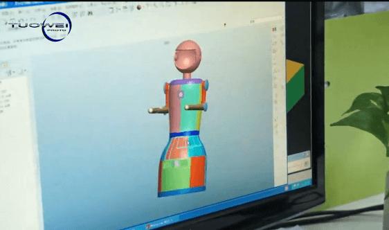 手板模型的3D图