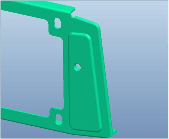 铝手板3D图